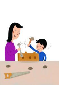Bricolage enfant - Illlustration : S. Chebret